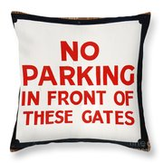 No Parking Vintage Sign Throw Pillow