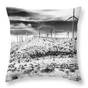 No Place Like Home 1 Bw Palm Springs Throw Pillow