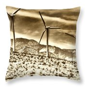 No Place Like Home 3 Palm Springs Throw Pillow