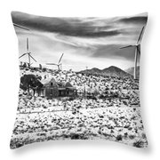 No Place Like Home Bw Palm Springs Desert Hot Springs Throw Pillow
