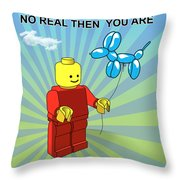 No Real Then You Are Throw Pillow by Mark Ashkenazi
