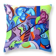 No Strings Attached Throw Pillow by Anthony Falbo
