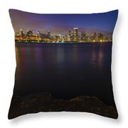 No Swimming To The City Throw Pillow