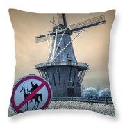 No Tilting At Windmills Throw Pillow