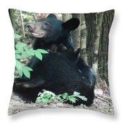 Bear - Cubs - Mother Nursing Throw Pillow