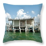 No Vacancy At The Stilt House Throw Pillow