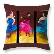 No Volre  Triptych Throw Pillow
