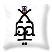 No Worry Babe Throw Pillow