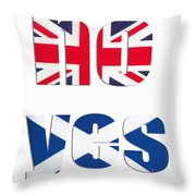 No Yes Throw Pillow