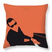 No003 My Ray Charles Minimal Music Poster Throw Pillow