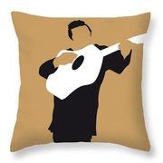 No010 My Johnny Cash Minimal Music Poster Throw Pillow by Chungkong Art
