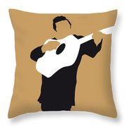 No010 My Johnny Cash Minimal Music Poster Throw Pillow