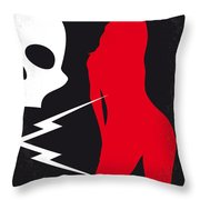 No018 My Death Proof Minimal Movie Poster Throw Pillow