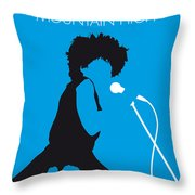 No019 My Tina Turner Minimal Music Poster Throw Pillow by Chungkong Art