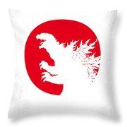 No029-2 My Godzilla 1954 Minimal Movie Poster.jpg Throw Pillow