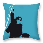 No035 My U2 Minimal Music Poster Throw Pillow by Chungkong Art