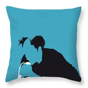 No045 My The Prodigy Minimal Music Poster Throw Pillow by Chungkong Art
