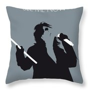 No047 My Alice Cooper Minimal Music Poster Throw Pillow