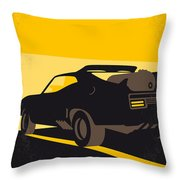 No051 My Mad Max 2 Road Warrior Minimal Movie Poster Throw Pillow