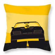 No051 My Mad Max Minimal Movie Poster Throw Pillow