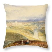 No.0572 Richmond, Yorkshire, C.1825-28 Throw Pillow