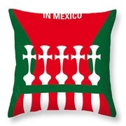 No058 My Once Upon A Time In Mexico Minimal Movie Poster Throw Pillow