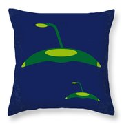 No118 My War Of The Worlds Minimal Movie Poster Throw Pillow by Chungkong Art