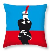 No136 My Soldier Blue Minimal Movie Poster Throw Pillow