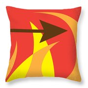 No175 My Hunger Games Minimal Movie Poster Throw Pillow