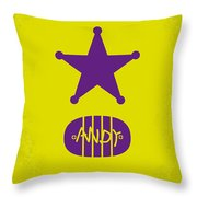 No190 My Toy Story Minimal Movie Poster Throw Pillow by Chungkong Art