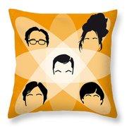 No196 My The Big Bang Theory Minimal Poster Throw Pillow