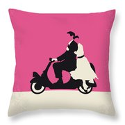 No205 My Roman Holiday Minimal Movie Poster Throw Pillow