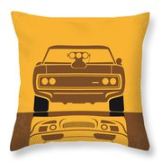 No207 My The Fast And The Furious Minimal Movie Poster Throw Pillow by Chungkong Art