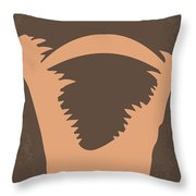 No210 My Crocodile Dundee Minimal Movie Poster Throw Pillow