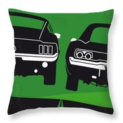 No214 My Bullitt Minimal Movie Poster Throw Pillow
