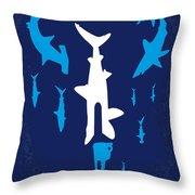 No216 My Sharknado Minimal Movie Poster Throw Pillow
