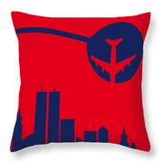 No219 My Escape From New York Minimal Movie Poster Throw Pillow