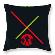 No224 My Star Wars Episode II Attack Of The Clones Minimal Movie Poster Throw Pillow by Chungkong Art