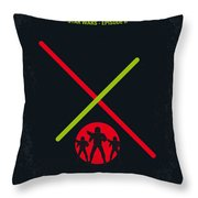 No224 My Star Wars Episode II Attack Of The Clones Minimal Movie Poster Throw Pillow