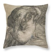 Couple In An Embrace Throw Pillow