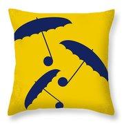 No254 My Singin In The Rain Minimal Movie Poster Throw Pillow by Chungkong Art