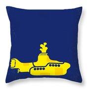 No257 My Yellow Submarine Minimal Movie Poster Throw Pillow