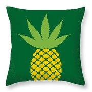 No264 My Pineapple Express Minimal Movie Poster Throw Pillow