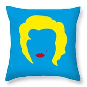No284 My Week With Marilyn Minimal Movie Poster Throw Pillow