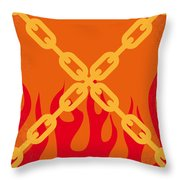 No296 My Ghost Rider Minimal Movie Poster Throw Pillow