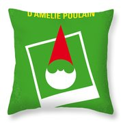 No311 My Amelie Minimal Movie Poster Throw Pillow by Chungkong Art