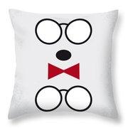 No324 My Mr Peabody Minimal Movie Poster Throw Pillow