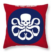 No329 My Captain America - 1 Minimal Movie Poster Throw Pillow