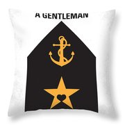 No388 My An Officer And A Gentleman Minimal Movie Poster Throw Pillow