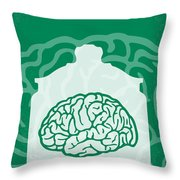 No390 My The Man With Two Brains Minimal Movie Poster Throw Pillow